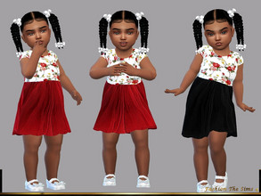 Sims 4 — Dress Flora baby  by LYLLYAN — Dress in 2 colors. Need the Toddler Stuff pack so it works in your game