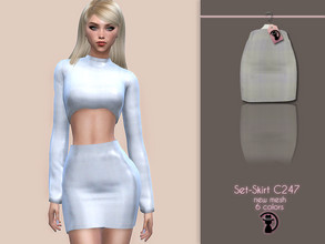Sims 4 — Set-Skirt C247 by turksimmer — 6 Swatches Compatible with HQ mod Works with all of skins Custom Thumbnail New