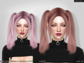 Sims 4 — Lizzy ( Hair 135 ) by TsminhSims — New meshes - 20 colors - HQ texture - Custom shadow map, normal map - All