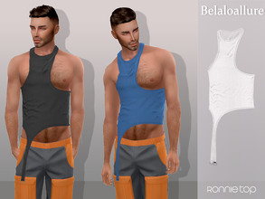 Sims 4 — Belaloallure_Ronnie top  by belal19972 —  tank top for your sims , enjoy :)