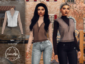 Sims 4 — Camuflaje - Mimi (Sweater) by Camuflaje — * New mesh * Compatible with the base game * HQ * All LODs (I