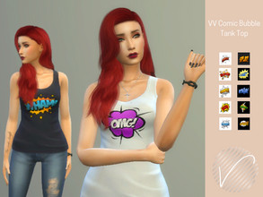 Sims 4 — VV Comic Bubble Tank Top by heyitsvern —