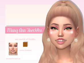 Sims 4 — Mary Ann Freckles by LadySimmer94 — BGC 1 swatch Found in Skin Details Custom Thumbnail (as seen on the ad) Teen