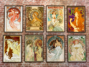 Sims 4 — Art Nouveau Paintings: Mucha by rrtt4 — -New Mesh by rrtt -8 swatches -Base Game Compatible