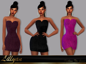 Sims 4 — Dress Cariny by LYLLYAN — Dress in 6 colors. Base game.