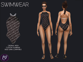 Sims 4 — Swimwear Vol.6 by linavees — Original Mesh Custom thumbnail Base game compatible Happy simming!