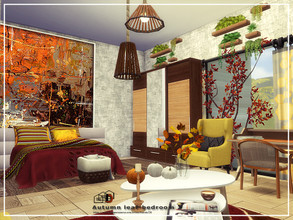 Sims 4 — Autumn leaf-bedroom 2 by Danuta720 — $14225 size 6x8 CC's needed for this Room - Read in the Required.