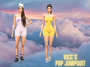 Sims 4 — Pop Jumpsuit by Vicc234 — All Lods BaseGame Compatible Weights working