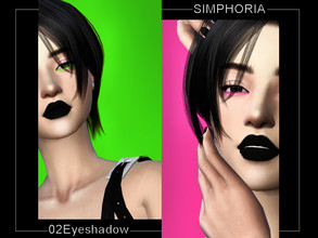Sims 4 — SIMPHORIA 02 Eyeshadow by Simphoria_ — Neon Bottom Eyeshadow 14 swatches Find in eyeshadow category