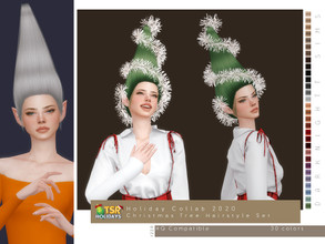 Sims 4 — Holiday Wonderland - Christmas Tree Hairstyle Set by DarkNighTt — Holiday Wonderland - Christmas Tree Hairstyle