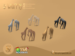 Sims 4 — Holiday Wonderland - Warmy Animal sculptures by SIMcredible! — by SIMcredibledesigns.com available at TSR 5