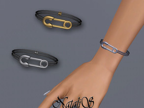 Sims 3 — NataliS TS3 Safety pin bracelet by Natalis — NataliS TS3 Safety pin bracelet. FT-FA-FE