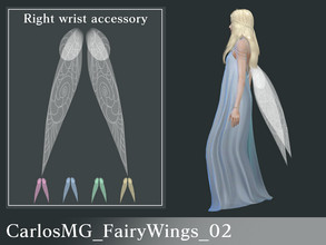 Sims 4 — CarlosMG_FairyWings_02 by CarlosMG — Closed fairy wings, Tinkerbell-like design. Right wrist accessory. 10
