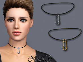 Sims 3 — NataliS TS3 Safety pin choker  by Natalis — NataliS TS3 Safety pin choker . FT-FA-FE