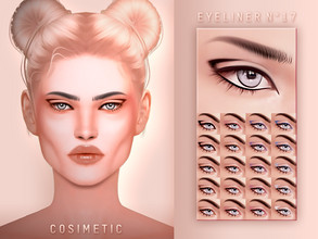 Sims 4 — COSIMETIC Eyeliner N17 by cosimetic — - This eyeliner can use on all genders and from teen to elder. - Contains