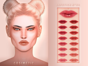 Sims 4 — COSIMETIC Lipstick N34 by cosimetic — - This lipstick can use on all genders and from teen to elder. - Contains