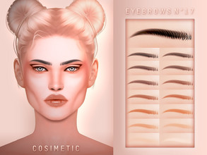 Sims 4 — COSIMETIC Eyebrows N17 by cosimetic — - This eyebrow can use on all genders and from teen to elder. - Contains [