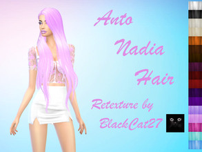 Sims 4 — Anto's Nadia Hair Retexture by BlackCat27 — Another favourite of mine by Anto. This fabulous hairstyle with it's