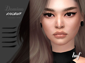 Sims 4 — IMF Domino Eyeliner N.112 by IzzieMcFire — Domino Eyeliner N.112 contains 5 variation in 1 color in hq texture.