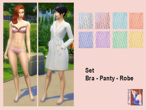 Sims 4 — ws Print Nightware Set by watersim44 — A lovely print for your Sims. Comes in 8 colors. Female - Sleepware