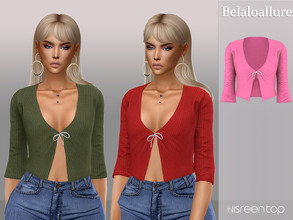 Sims 4 — Belaloallure_Nisreen top  by belal19972 — Simple knit top for your sims , enjoy :)