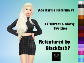 Sims 4 — Ade Darma Katerina v1 Retexture by BlackCat27 — Retexture of Ade's fabulous Katerina hairstyle, comes in 17