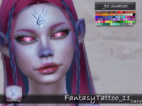 Sims 4 — [Ts4]Taty_FantasyTattoo_11 by tatygagg — - Female, Male - Human, Occult - Toddler to Elder - Hq Compatible -