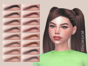 Sims 4 — EB-11 / Hannah Brows by catemcphee — - 16 colours - enjoy :)