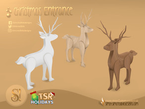 Sims 4 — Holiday Wonderland - Christmas Entrance - Reindeer by SIMcredible! — by SIMcredibledesigns.com available at TSR