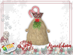 Sims 4 — Holiday Wonderland  - Gift Sack by ArwenKaboom — Base game deco item. Found in Decoration - Sculpture Hope you
