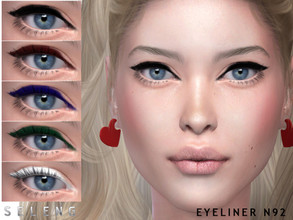Sims 4 — Eyeliner N92 by Seleng — Female Teen to Elder 6 swatches Custom Thumbnail HQ compatible The picture was taken