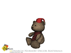 Sims 4 — Monarch Male Teddy Bear by Onyxium — Onyxium@TSR Design Workshop Nursery Collection | Belong To The 2020 Year