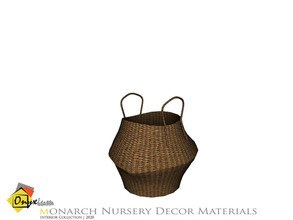 Sims 4 — Monarch Basket by Onyxium — Onyxium@TSR Design Workshop Nursery Collection | Belong To The 2020 Year