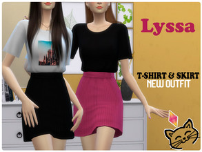 Sims 4 — Lyssa Outfit  by AlyssPrya — Full Body New Outfit New Mesh All LOD's Shadow Map 15 Swatches Compatible with the