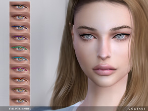 Sims 4 — Eyeliner-Sophia by ANGISSI — Previews made with HQ mod -10 colors -HQ compatible -female/from child to elder