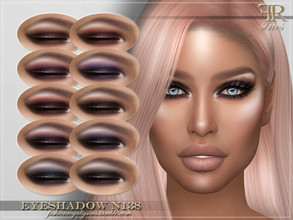 Sims 4 — FRS Eyeshadow N138 by FashionRoyaltySims — Standalone Custom thumbnail 10 color options HQ texture Compatible