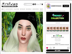 Sims 4 — Froggy Eyeliner by cherrymyshuno — - 7 swatches - teen - elder - base game compatible - custom thumbnails -