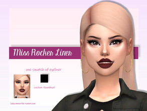 Sims 4 — Miss Rocker Liner by LadySimmer94 — BGC 1 swatch Custom Thumbnail (as seen on the ad) Teen / Elder Male / Female