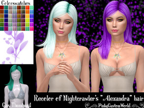 Sims 4 — Recolor of Nightcrawler's Alexandra hair by PinkyCustomWorld — - Recolor in 48 different colors - Custom
