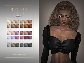Sims 4 — S-Club ts4 WM Hair 202015 by S-Club — Hair style, 26 swatches, hq, hope you like, thank you!!
