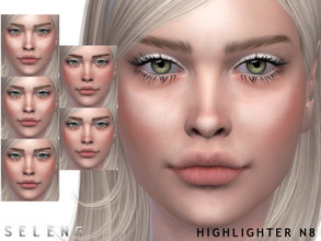 Sims 4 — Highlighter N8 by Seleng — Female l Male Child to Elder 5 variations Skin Detail Section Custom Thumbnail HQ