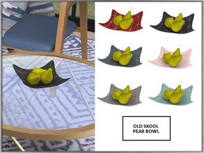 Sims 4 — Old Skool Pear Bowl by Chicklet — Part of the Old Skool sitting room. This set blends a mixture of old school