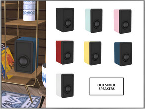 Sims 4 — Old Skool Speakers by Chicklet — Part of the Old Skool sitting room. This set blends a mixture of old school