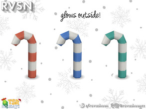 Sims 4 — Lawn Candy Cane by RAVASHEEN — This festive lawn ornament is perfect for lining your entryway path to get in the