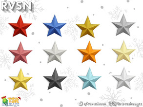 Sims 4 — Large Wall Star by RAVASHEEN — These star decorations don't actually light up, but they sure brighten up any