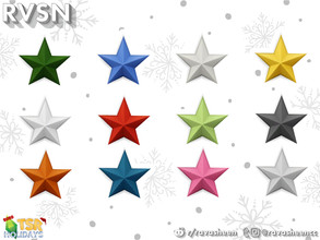Sims 4 — Small Wall Star by RAVASHEEN — These star decorations don't actually light up, but they sure brighten up any