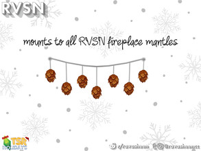 Sims 4 — Pinecone Garland by RAVASHEEN — Feeling festive? We got you! Loveee the holiday spirit? We got you! Don't ever