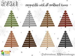 Sims 4 — Palette Wall Tree by RAVASHEEN — When your in a small space but you still want to be festive, the palette wall
