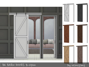 Sims 4 — Be Barn Door B Open by Mincsims — a part of Be Sliding Barn Doors