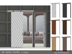 Sims 4 — Be Barn Door C Open by Mincsims — a part of Be Sliding Barn Doors